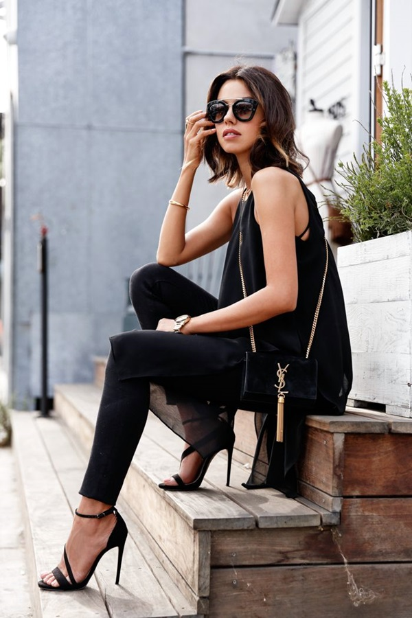 All Black Outfits Ideas for Teens (29)