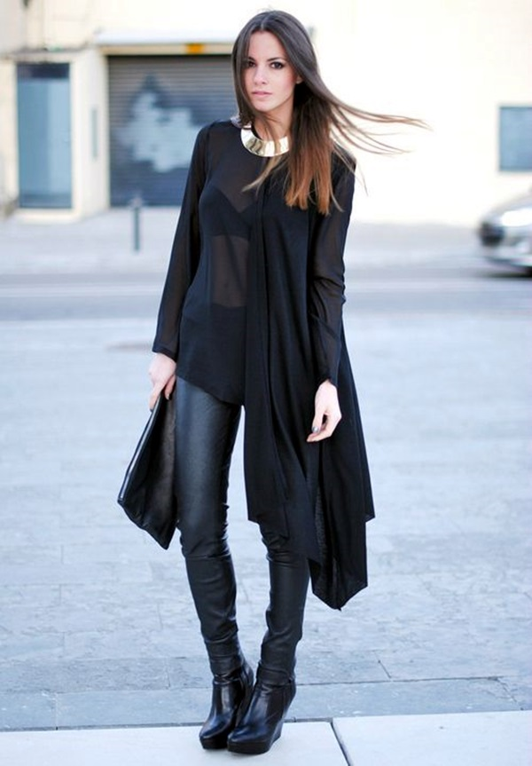 All Black Outfits Ideas for Teens (43)