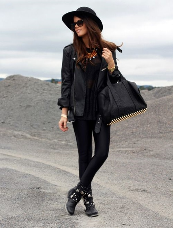 All Black Outfits Ideas for Teens (46)