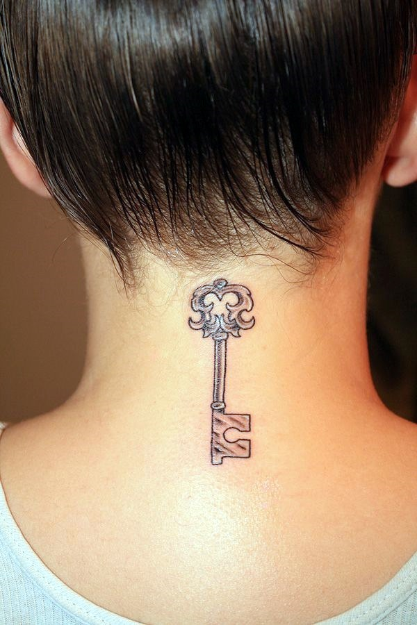 Key Tattoos for Girls (4)