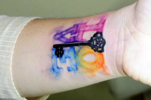 Key Tattoos for Girls (5)