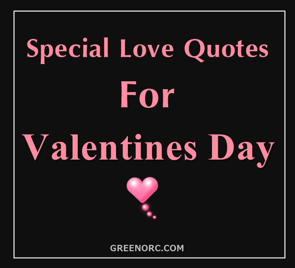 Special Love Quotes For Valentines Day
