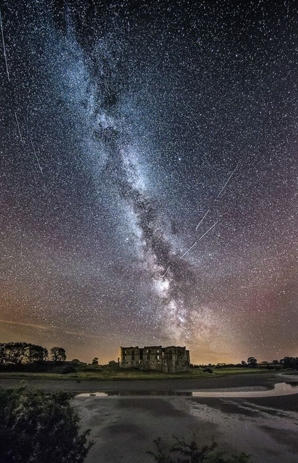 The Perseids Meteor shower & Milky Way above Carew Castle, Wales. Prints available to buy at http://robstillwell.smugmug.com