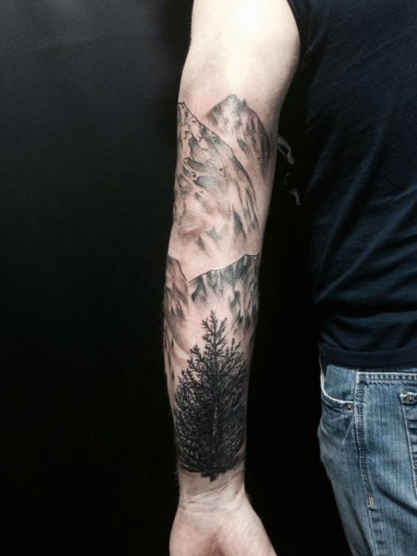 Deep-rooted Forest Tattoo Designs With Sophisticated Meaning