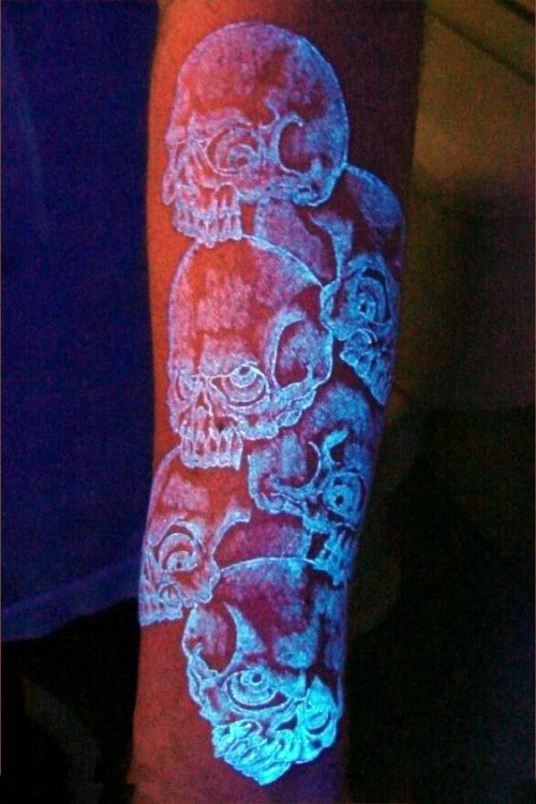 Futuristic Glow In Dark Tattoo Ideas