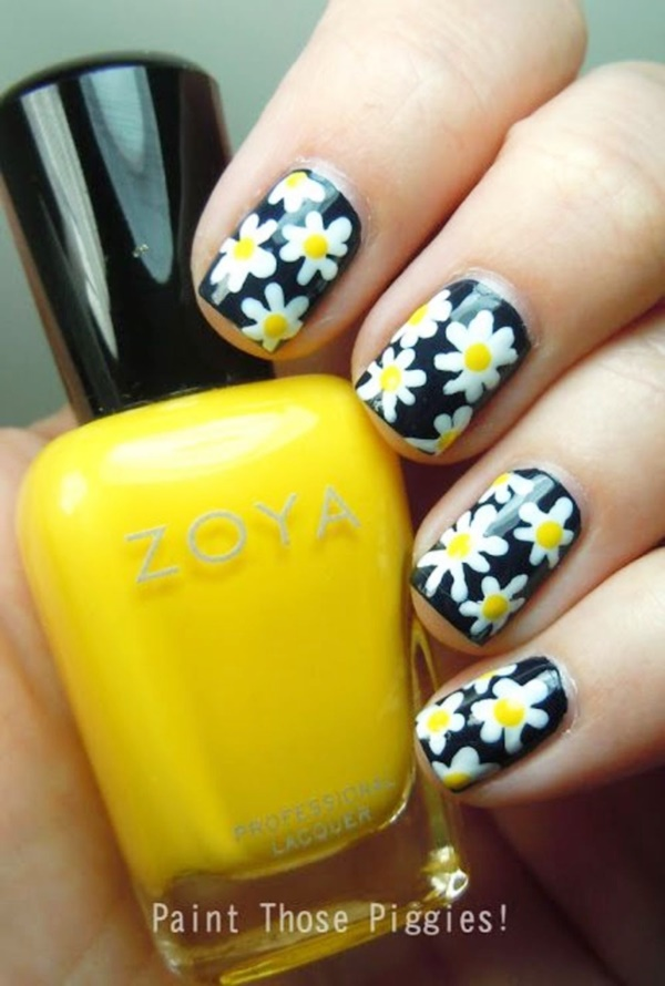 Cute Floral Nail Art Designs For This Autumn