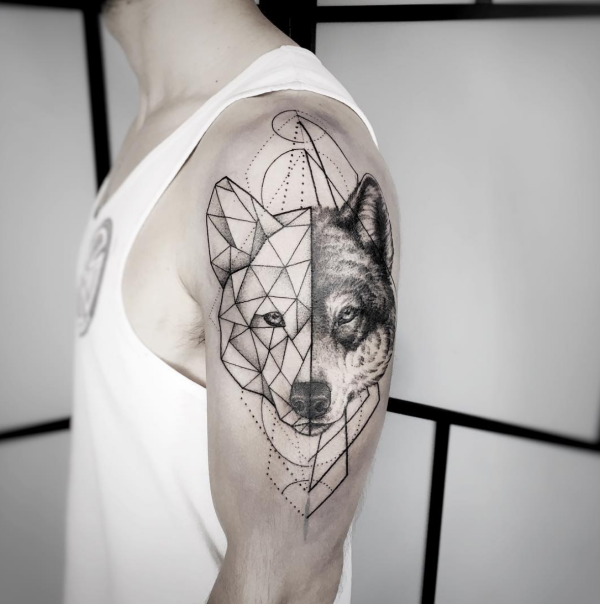 Geometric Animal Tattoo Ideas