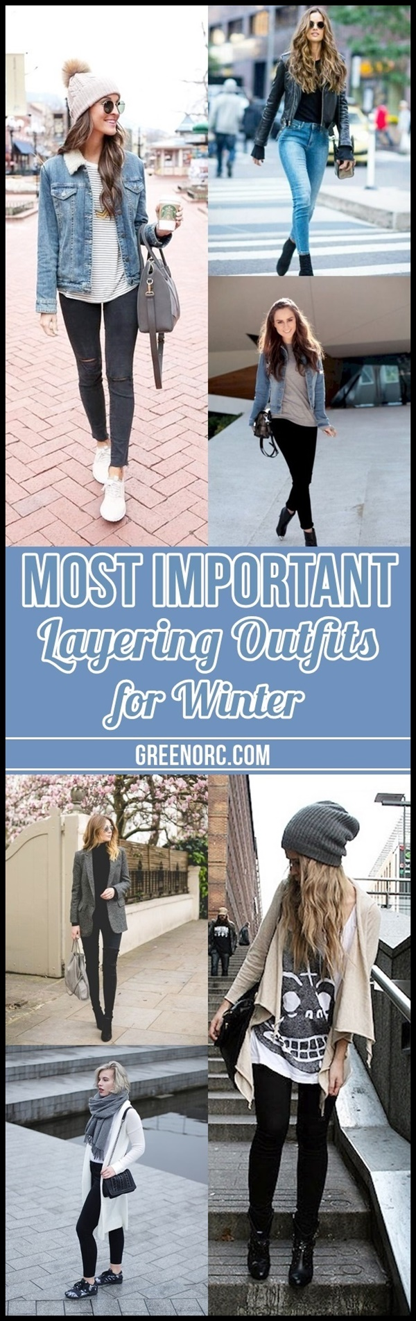 Most Important Layering Outfits for Winter