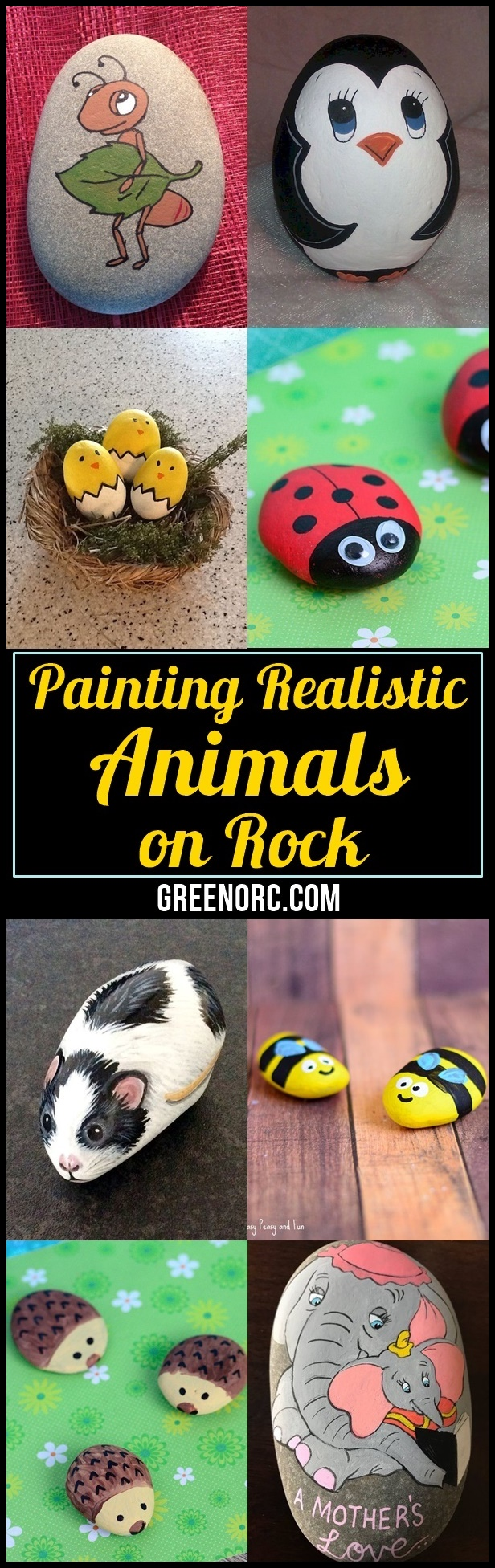 Painting Realistic Animals on Rock