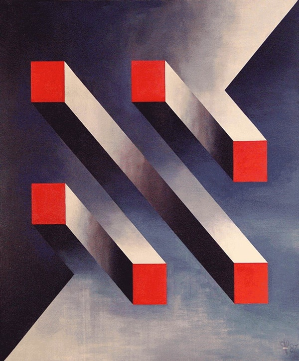 Hallucinating Abstract Illusion Paintings