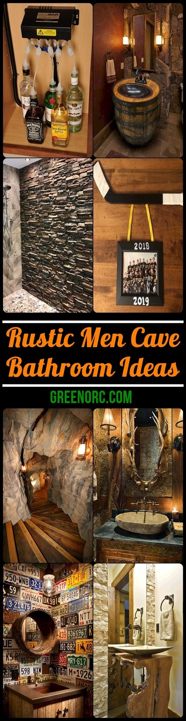 Rustic Men Cave Bathroom Ideas